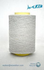 16s 100% de la Melange de hilados de algodón cardado