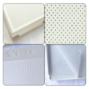 600*600mm en aluminium résistant à la chaleur Revêtement en poudre insonorisées et matériel de plafond