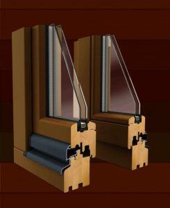 Madera revestidos de aluminio doble acristalamiento Casement Window