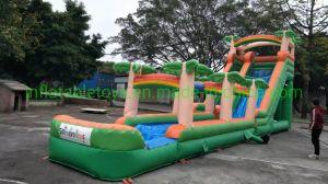 Grito personalizada gran tobogán de agua inflable Hippo para adultos y niños tobogán inflable