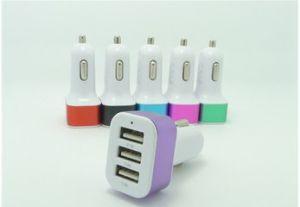 El aluminio 3 Triple teléfono móvil USB Cargador de coche