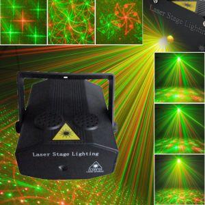 卸し売り製造業者の小型レーザー光線ショーの1つの小型段階ライトPVCシェルに付き安い小型レーザー光線4つ