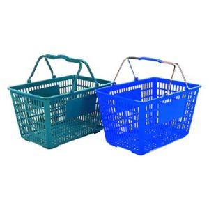 Panier de magasinage en plastique avec poignée en métal (HY-B01)