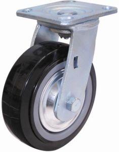 Rodízio de PU giratório para serviço pesado (Preto) (com tampa contra poeira)