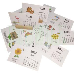 2021 Plantable semente botânica de Turismo Calendário