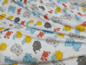 32&40s вязки материала цифровая печать Джерси хлопок лайкра ткань для малыша по пошиву одежды