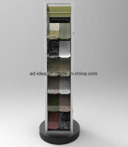 大理石の水晶石のサンプルショールームの回転のタイルの表示タワー