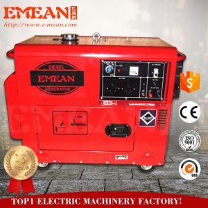 5kVA 하나 또는 삼상 발전기 세트, 공기에 의하여 냉각되는 디젤 엔진 발전기, 열려있고는 또는 침묵하는 유형 휴대용 디젤 엔진 발전기