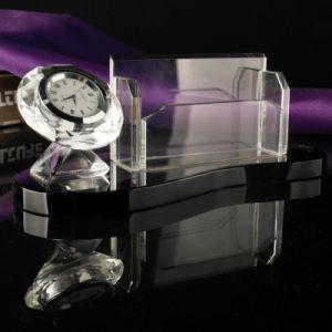 Crystal cadeau vierge de haute qualité de l'art Horloge de bureau à l'horloge de Verre en cristal