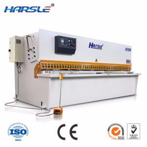 QC12K Affichage numérique en cisaillement du faisceau hydraulique de rotation de la machine avec un ouvrage exquis