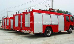 Motor Isuzu 4X2 5000L de água 2000L petroleiro de espuma extinguir incêndio Veículo