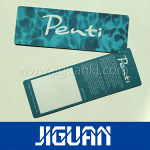 Impresión personalizada Folden etiquetas colgar la ropa de papel