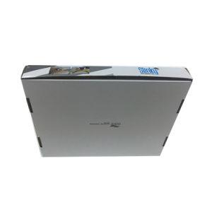بيضاء يغضّن صندوق مع طباعة لامعة