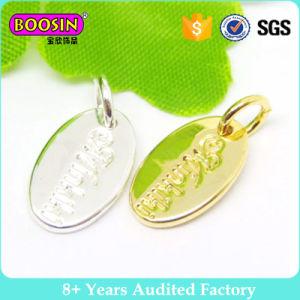 Modifica su ordinazione dei monili di fascino della modifica di marchio del metallo incisa figura ovale