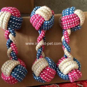 Factory-Direct Multi-Colors suministro de productos pet Plush Cotton-Rope-bola pesa Dog Toy