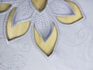 卸し売り熱い切断の柔らかく、快適な刺繍ファブリック