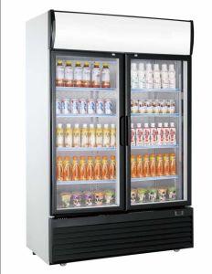 Congelatore verticale commerciale della vetrina per l'hotel della drogheria del supermercato