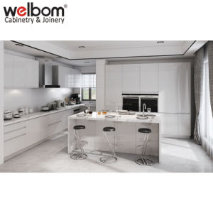 Welbom moderner weißer hoher Glanz MDF-Küche-Schrank