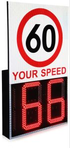 交通安全LEDの点滅の警告の合図ライトレーダーの太陽トラフィックの速度の危険信号の探知器
