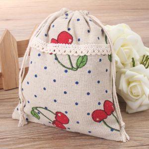 Imperméable bon marché personnalisé imprimé de polyester Nylon Sac avec lacet de serrage