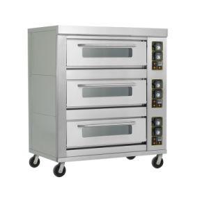三重層の12皿のパン屋ピザのための商業ガスオーブン