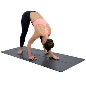 El logotipo impreso personalizado Eco friendly PVC gran estera del yoga