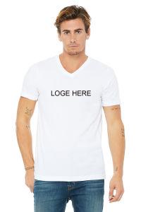 Encolure en V 100%COTON Unisex T-shirt avec logo personnalisé