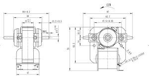 Yj61 110-240 V Nebulizador Polo sombreado Motor de la cortina y equipo industrial