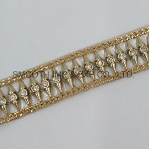 Commercio all'ingrosso accessorio del vestito da cerimonia nuziale dell'indumento DIY di trasferimento del Rhinestone del nastro di Hotfix