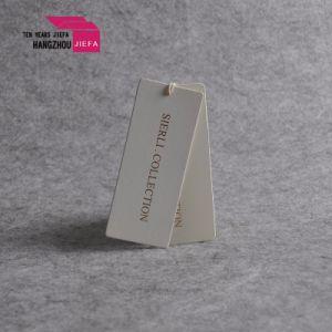 Logo personnalisé imprimé papier parchemin Hang Tag/Tag pour Colthing de pivotement