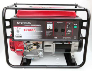 6KW 6KVA البنزين المحمولة (البنزين) مولد مع CE مدعوم من هوندا (BH8000DX)
