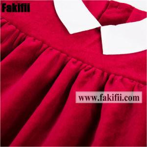 Bambino/capretto/ragazza all'ingrosso di inverno che copre l'abito rosso dei bambini del vestito dal velluto