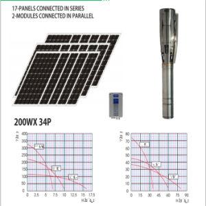 浸水許容の深い井戸水太陽ポンプ