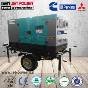 Beweglicher Dieselschlußteil-Generator-leiser Typ des generator-60kVA 50kw mit zwei Rädern
