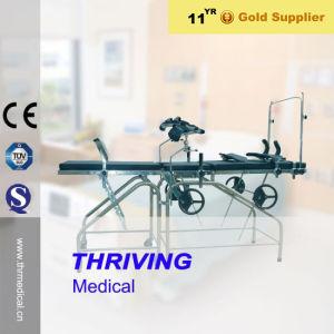 Thr-83A Krankenhaus-Edelstahl-gynäkologisches Prüfungs-Bett