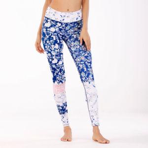 ロゴによって印刷されるナイロンまたはスパンデックスの適性のヨガのスポーツの女性LeggingにDri合いなさい