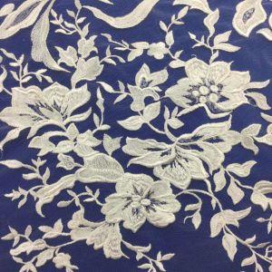 絶妙な花のレースの花嫁の服のための柔らかい網のスパンコールのレースファブリック