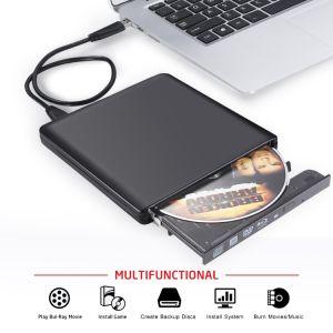 Blu-ray externe USB3.0 Graveur DVD Lecteur de CD pour ordinateur portable/PC/Mac