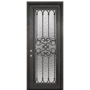 Barato usado simples tampo plano moderna única janela dianteira da porta da entrada principal de segurança da porta de ferro forjado fabricados na China para Home