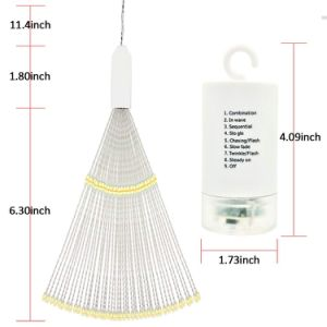 120LEDs花束の形LED Starburstはクリスマスの庭のための豆電球の銅線ストリングライトをつける