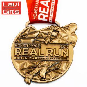 Venda por grosso de metais em 3D personalizada barata de recreio Projete sua própria liga de zinco em branco Maratona de Metal Ouro executando Loja Prêmio Medalha de desporto para a promoção de