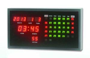 Digital LED de la fecha de pared Reloj de tiempo y con la temperatura