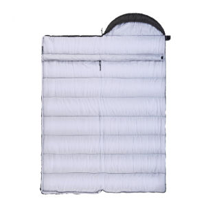 キャンプ旅行単一の居心地のよく厚く暖かい屋外の寝袋