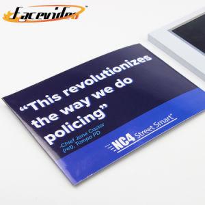 Impresión Facevideo 7pulgadas de pantalla LCD de Video a medida Video Folleto folleto por correo directo