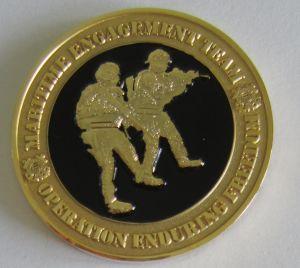 Weicher Decklack Druckguss-Metallanker-Herausforderungs-Münzen für Militär (090)