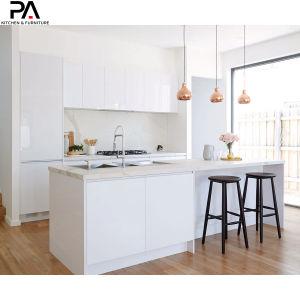 Fabricante China Wholesale hecho personalizado Muebles Casa Derribar Diseño de lujo moderno modular de alto brillo gabinetes de cocina