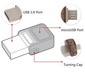 Unidad flash USB OTG U de metal de alta velocidad de disco de memoria USB Pen Drive