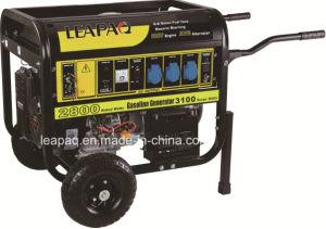 Ruedas de 2.8kw y mango portátil tipo F Generador Gasolina