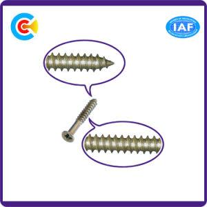DIN/ANSI/BS/JIS Carbon-Steel/Stainless-Steel 4.8/8.8/10.9 Destornillador Cruz galvanizada tornillo autorroscante
