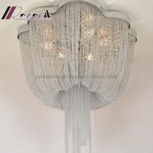 L'élégance moderne de fer de la chaîne de la lampe de plafond pour l'hôtel